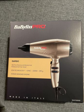 BaByliss Pro Rapido, suszarka z silnikiem Ferrari 2200W, Light Bronze
