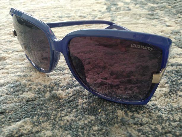 Okulary przeciwsłoneczne Louis Vuitton kobaltowe