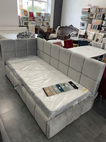 Дитяче ліжко з підйомним механізмом  металевий каркас букові ламелі