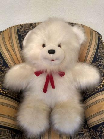 Идеал состояние, медведь белый большой пушистый мягкая игрушка