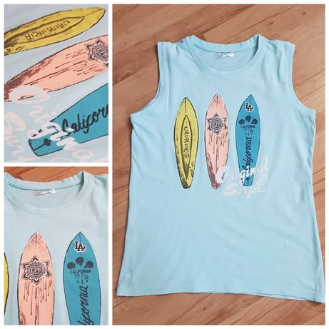 T-shirt, bluzka, koszulka, bezrękawnik. Rozmiar 146/152 cm.