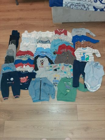 Ubrania paka dla chłopca 74