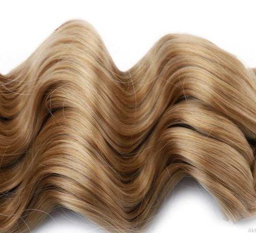 syntetyczne włosy ciemny blond 48cm-60cm na głowe na dywan