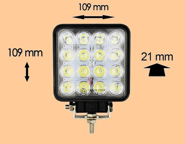 Nowa Lampa 16 LED halogen roboczy szperacz 48W 12V 24V