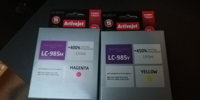 Tusze LC-985 żółty i magneta