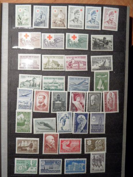 Finlandia czyste znaczki pocztowe duży zestaw czerwony krzyż