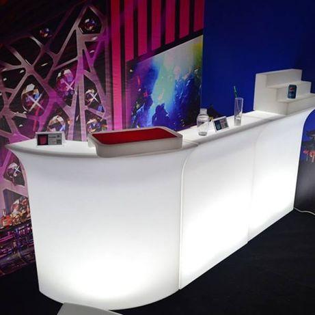 Balcão com luz para bar restaurante hotel catering eventos