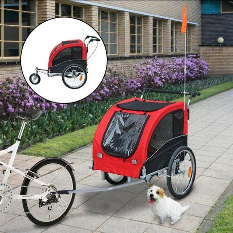 PRZYCZEPKA ROWEROWA Dla Psa, towarowa, riksza czerwona jogger wózek