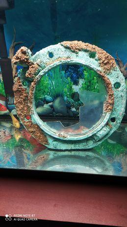 Ozdoba akwariowa duza niespotykana okno statek