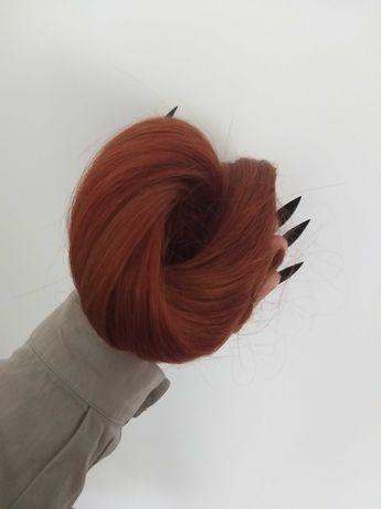 Włosy doczepiane (kucyk) 50-55cm - 100% Naturalne - NOWE - Farbowane