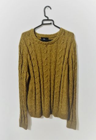 Camisola de Malha Amarelo-Mostarda