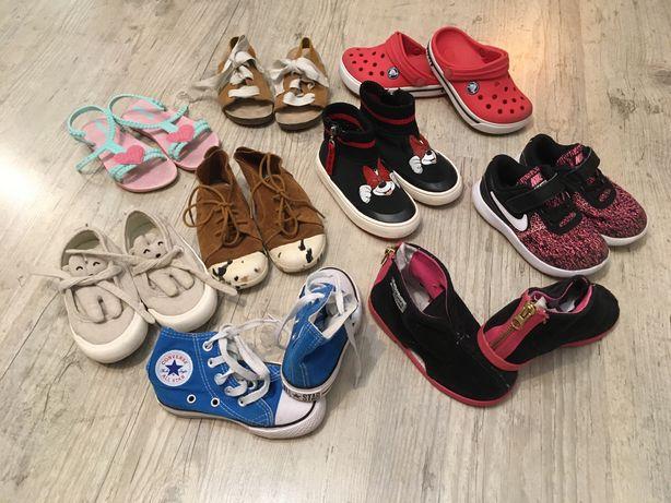 Zestaw bucików rozm. 24/25 - Zara,Slippers Family,Crocs,Converse ...