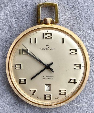Relógio de bolso Cortébert Incabloc Corda Manual