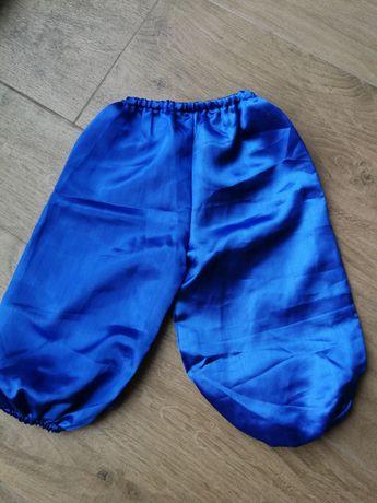 Шаровары для мальчика синие атласные