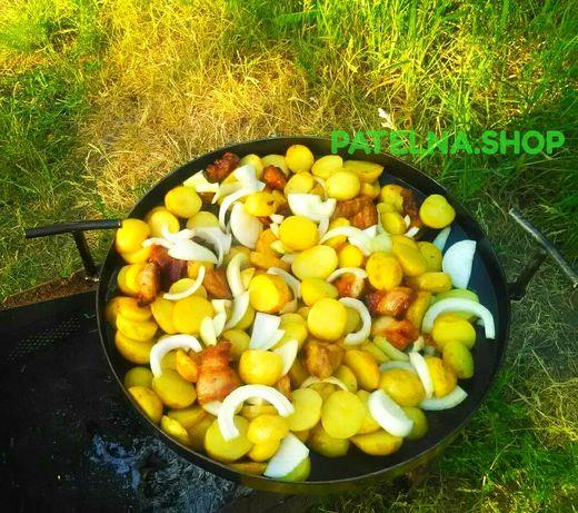 Сковорода из диска борони з кришкою ,гриль,садж,жаровня,мангал ОПТ