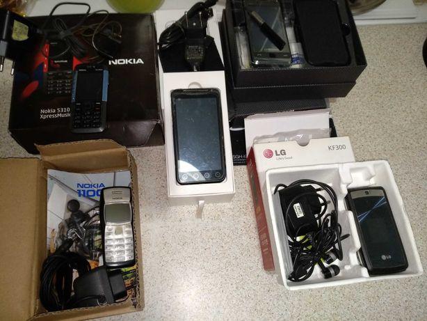 Телефоны кнопочные Nokia, LG, слайдер ZOPO, Samsung