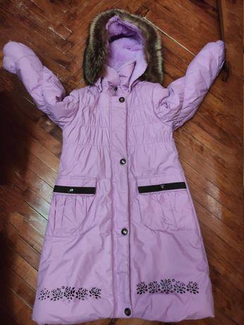 Пальто зимнее Линне  Lenne для девочки 128-134, 8-10 лет