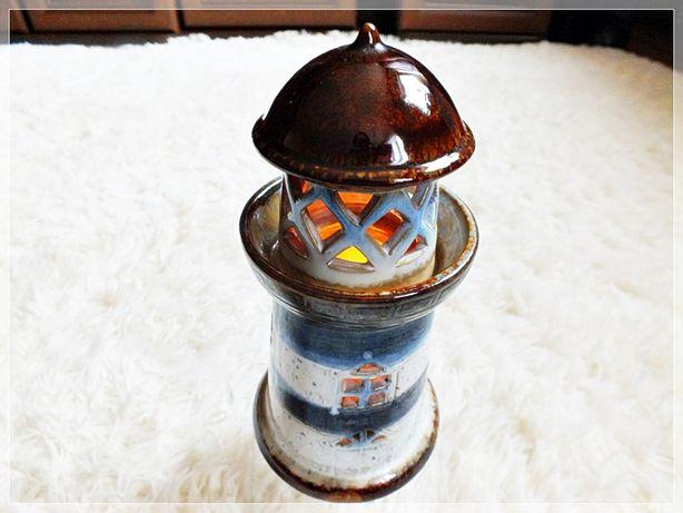 Kolekcjonerska Zabytkowa lampka - Stara Latarnia Morska na świeczkę