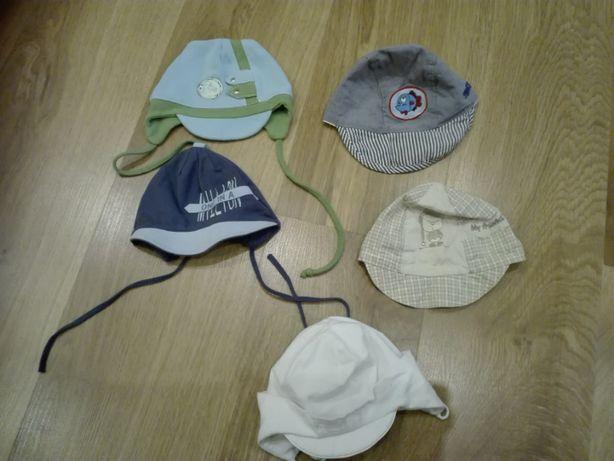 zestaw czapeczki dla niemowlaka na lato 0-6m-cy