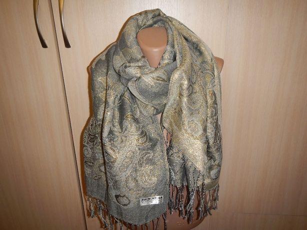 Шикарный шарф пашмина pashmina р. 165см х 68см шерсть шелк