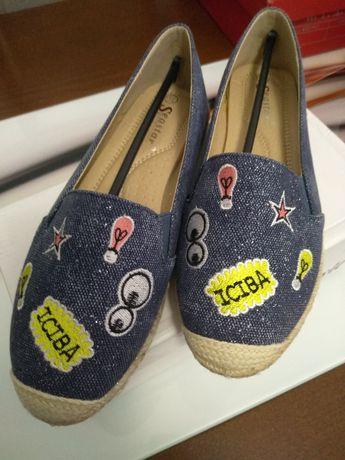 Nowe buty damskie wsuwane r. 36 wkl. 23 cm