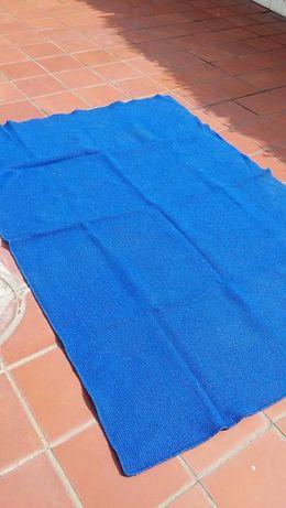 Carpete Rectangular de Cor Azul