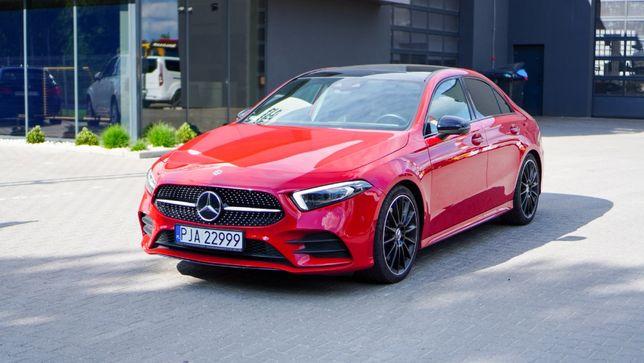 Wynajem samochodu Mercedes A250 Nowy model 2019 rok AMG Pakiet