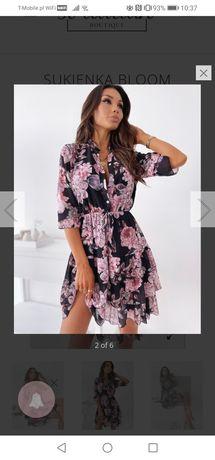 Sukienka do kolan, w kwiaty