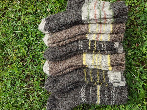В'язані вовняні шкарпетки(ручна робота) Вязаные шерстяные носки