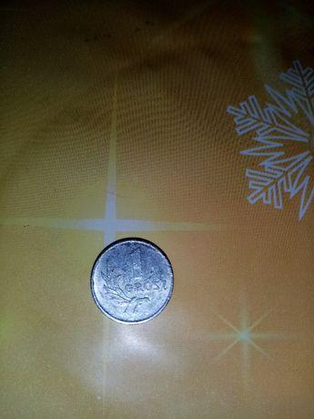 1 grosz z 1949 roku (aluminiowy) kolekcjonerski