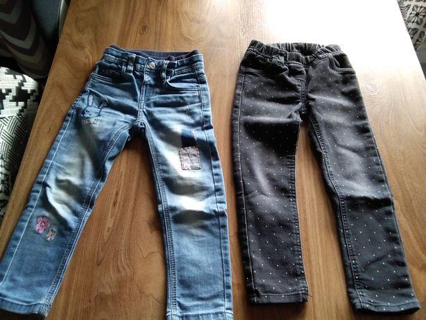 dżinsy spodnie roz. 110 3 pary