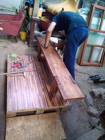 Лавочка мебель для сада дачи двора на заказ