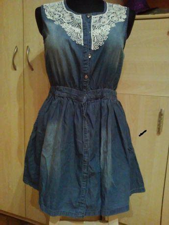 sukienka jeans bawełniany 164/170cm YFK