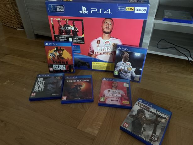 Consola PS4 500GB mais Jogos