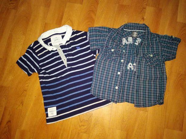 Футболка и рубашка на мальчика