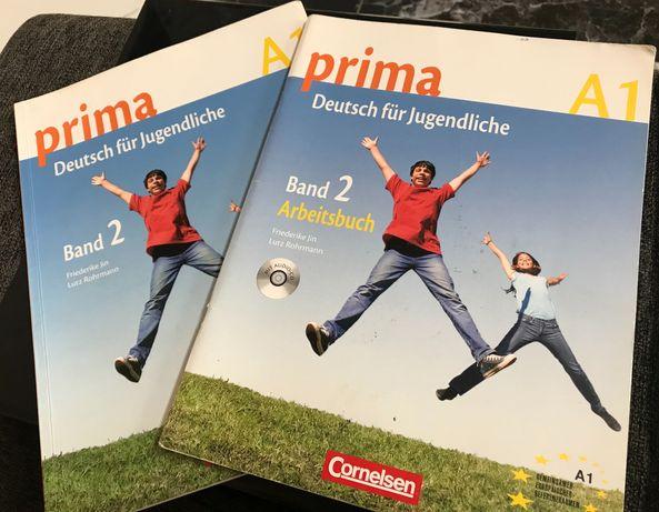 Prima Deutsch für Jugendliche 2 (A1) Arbeitsbuch+Kursbuch