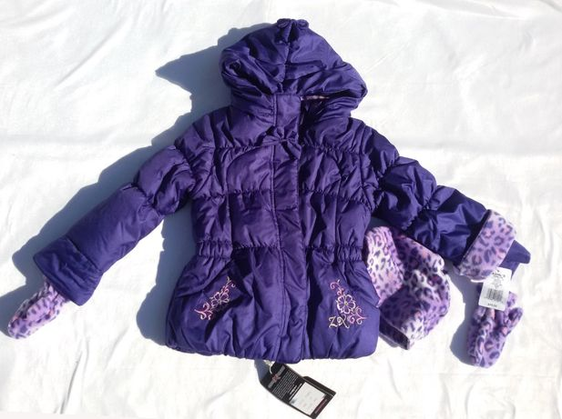 Куртка ZeroXposur с шапочкой и варежками, размер 4 года