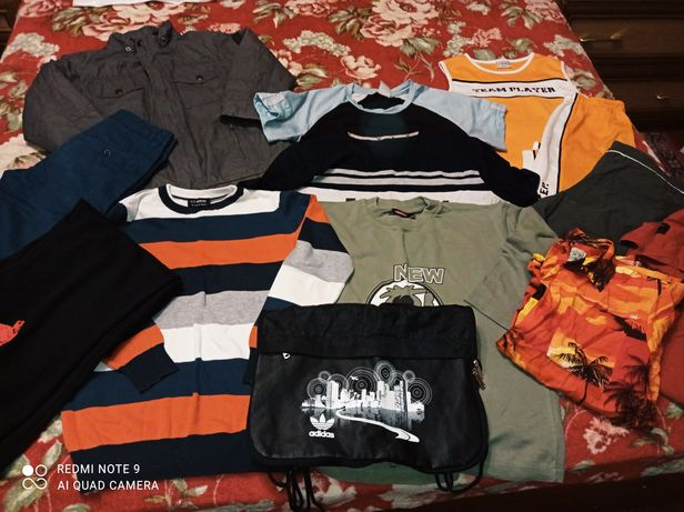 Пакет хороших вещей+обувь+сумка на мальчика 7-10лет