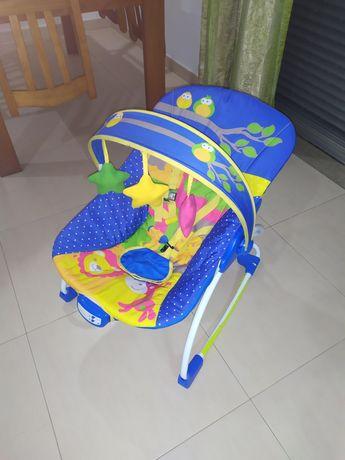 Espreguiçadeira bebé com música