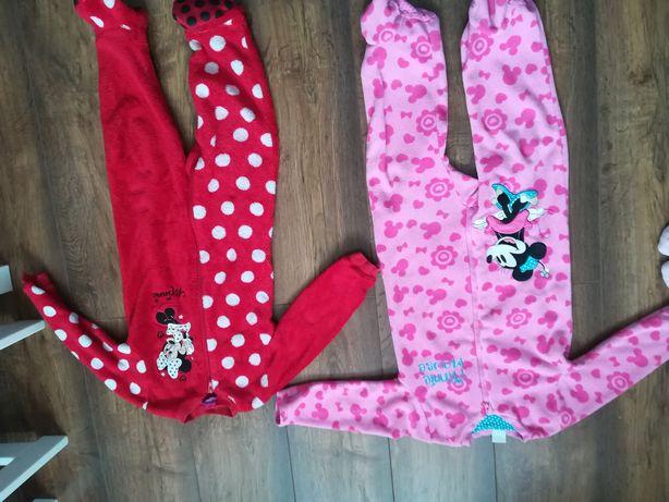 Piżama pajacyk różowa myszka miki czerwona polarowa 86 92