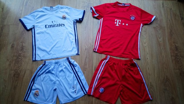 Komplet koszulka i spodenki na wf piłka nożna wiek ok. 10 -12 lat