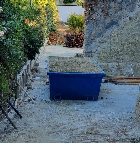 Contentores para recolha de todo o tipo de entulho de obras e resíduos