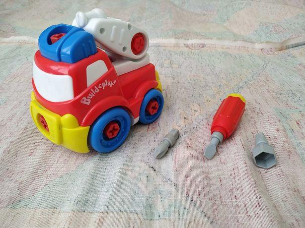 Пожежна машина-конструктор для малюків від 2 до 4 років