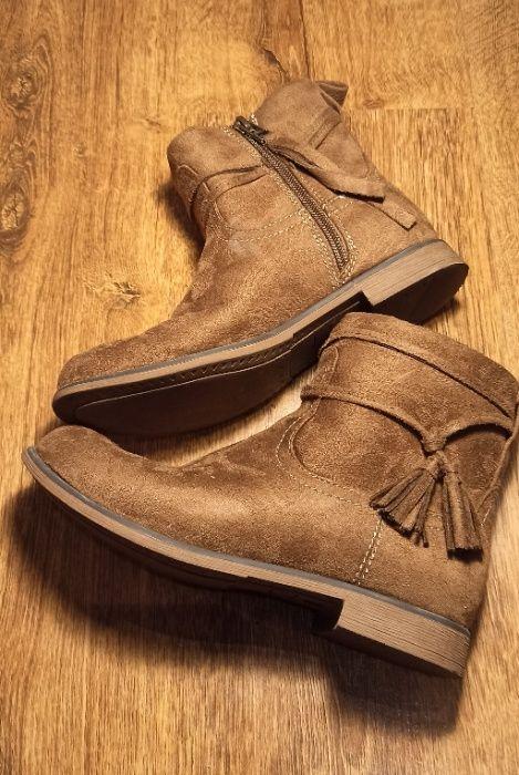 buty zimowe, przejściowe dla dziewczyny, kozaki, r.: 33, wkładka: 21.5 Nisko - image 1