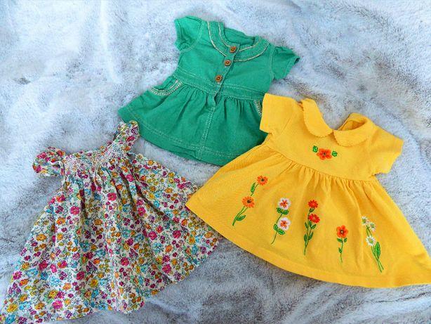 Sukienki dziecięce. Rozmiar 0-3 miesiące