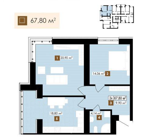 2 кім квартира в центральній частині міста Івано-Франківська