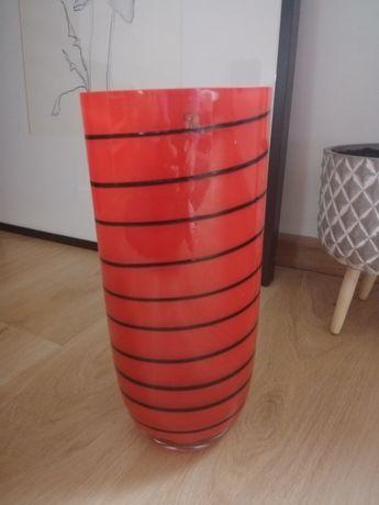 Wazon szklany Almi Decor czerwony nowoczesny