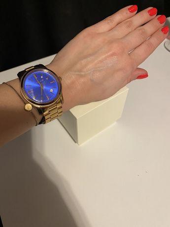 Oryginalny zegarek Michael Kors niebieska tarcza rose gold datownik