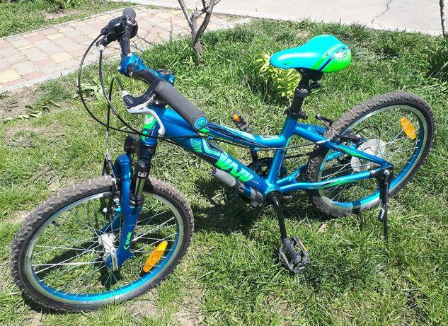 Детский велосипед 20″ (рост от 90см до 130см). алюминиевая рама.