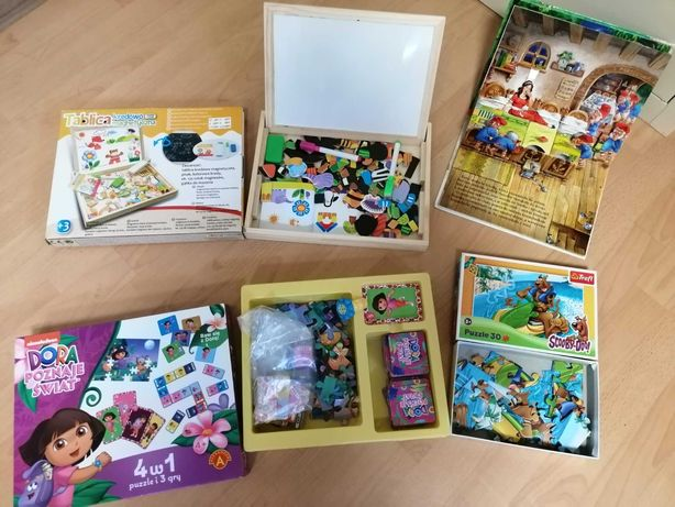 Zabawki dla dziewczynki, gry, puzzle, tablica edukacyjna, bajka 3D